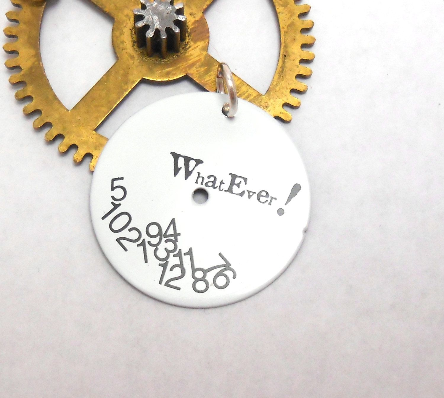 Whatever steampunk upcycled genuine watch dial watch face pendant by whatever steampunk upcycled genuine watch dial watch face pendant by jewelrybymatt on etsy aloadofball Gallery