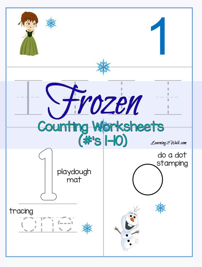 Counting Frozen Worksheets Printable Preschool Worksheets, Numbers  Preschool, Preschool Activities