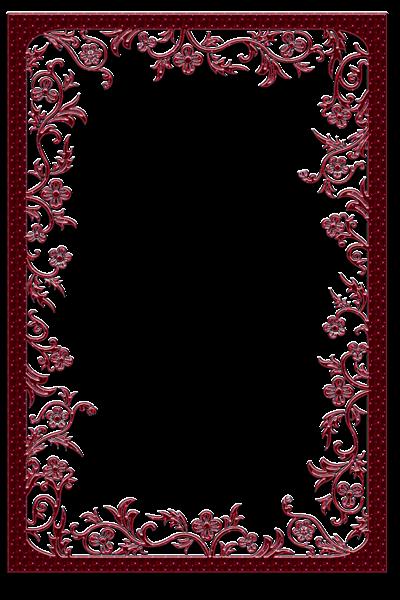 Large Red Transparent Frame