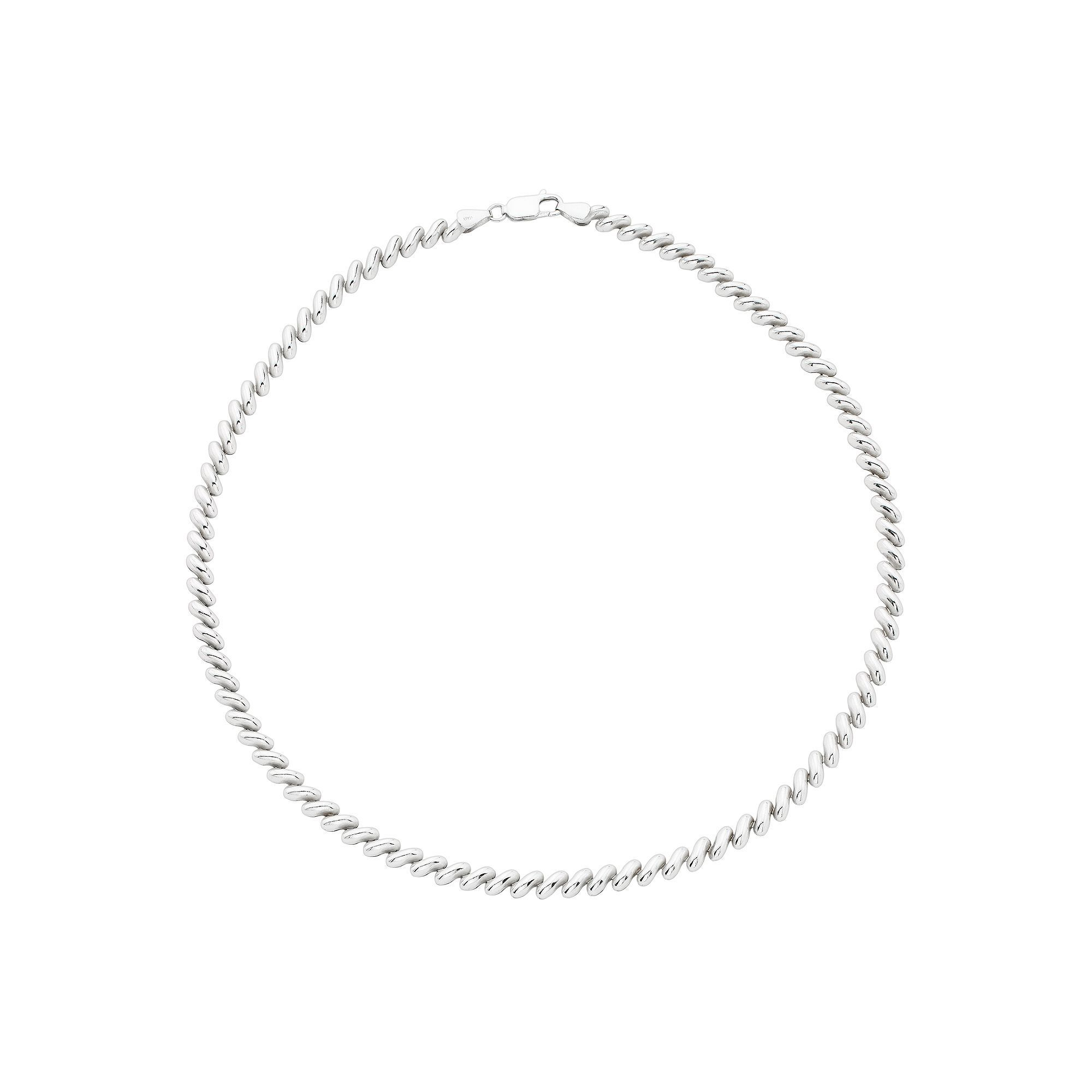 Sterling Silver San Marco Necklace, Women\'s, Size: 18\