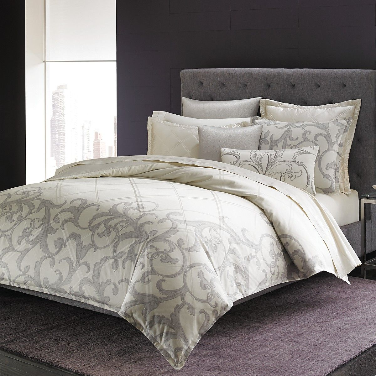 purple white window pillows treatments by bed beds comforters and gray carpet br comforter bloomingdales