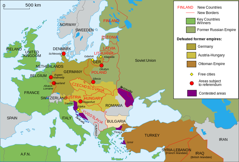 Map of territorial changes in europe after world war i wikipedia map of territorial changes in europe after world war i wikipedia gumiabroncs Choice Image