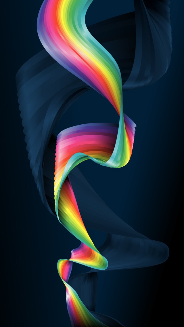 Colorful Ribbon 3d Render 4k Hd Android And Iphone Wallpaper