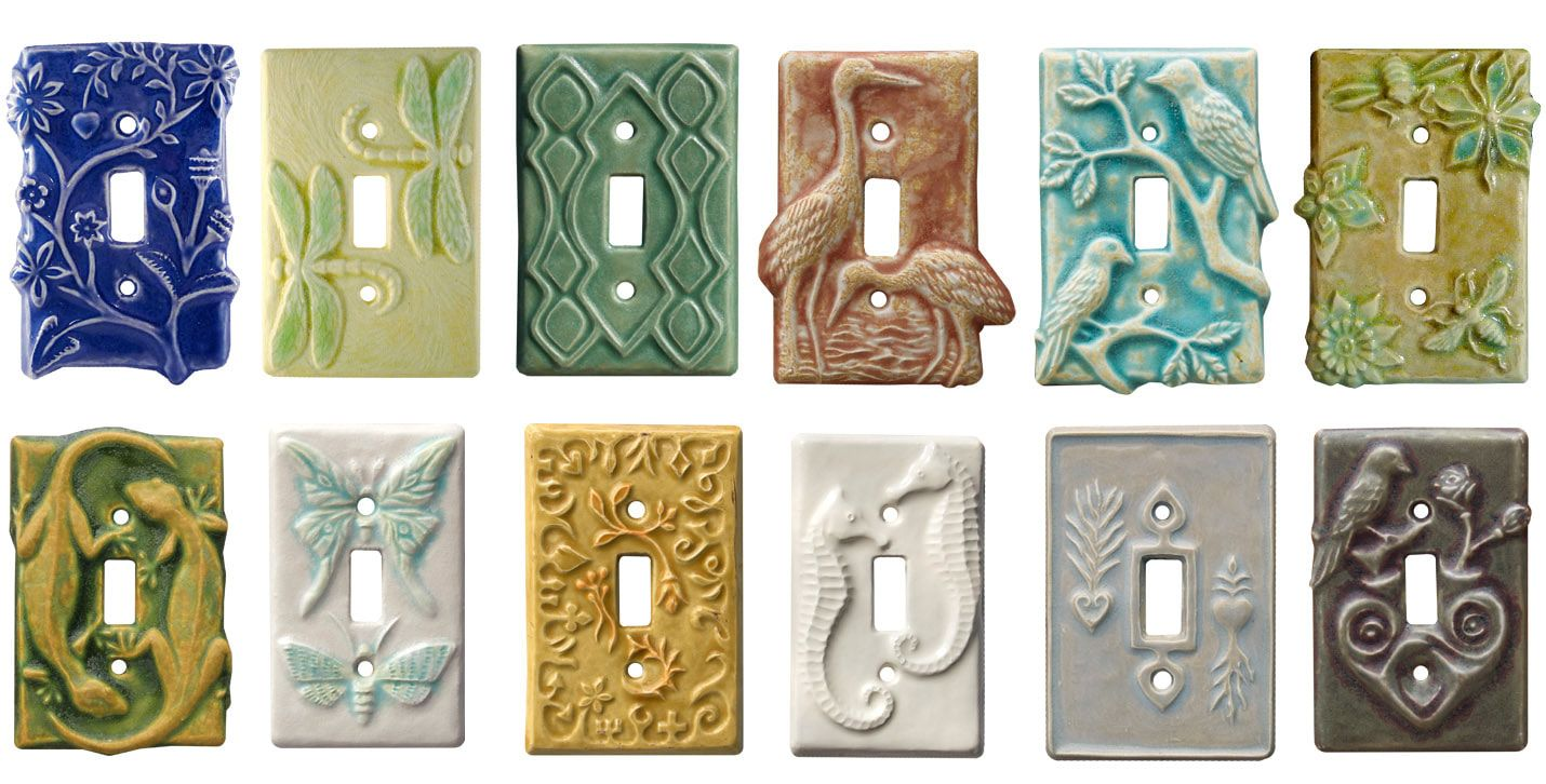 Unique Ceramic Art Light Switch Covers Outlet Plates With Rustic Botanica In 2020 Decorative Light Switch Covers Rustic Light Switch Covers Light Switch Plate Cover