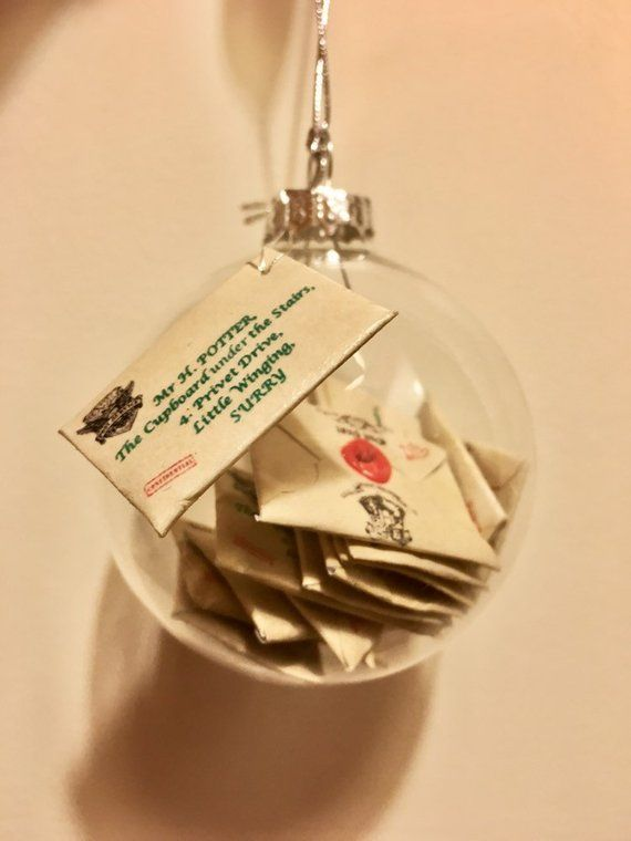 Harry Potter Christmas Gifts.Harry Potter Hogwarts Letter Bauble Handmade Harry Potter