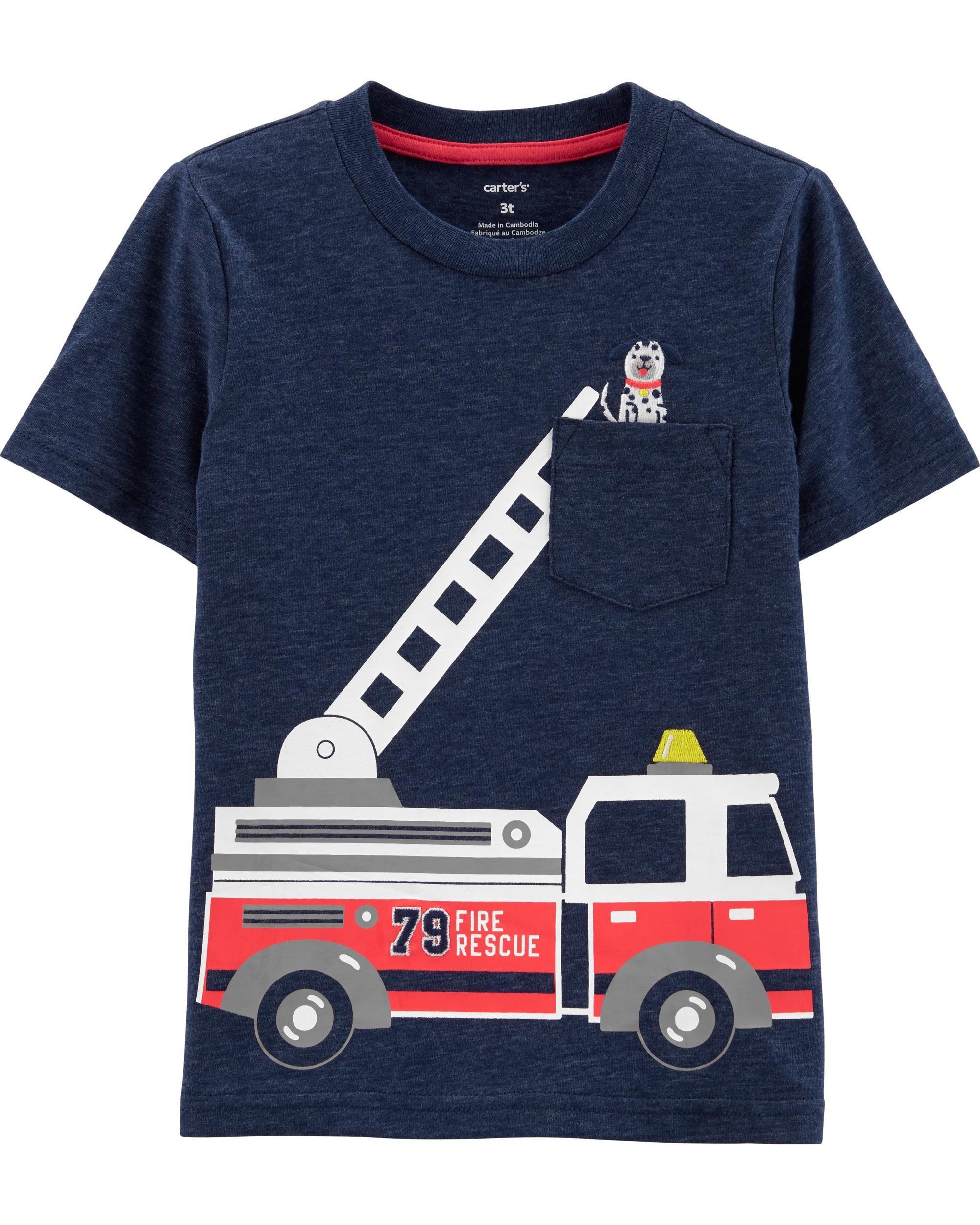 397af1670 Firetruck Snow Yarn Tee in 2019 | Nephew gift | Toddler boys, Baby ...