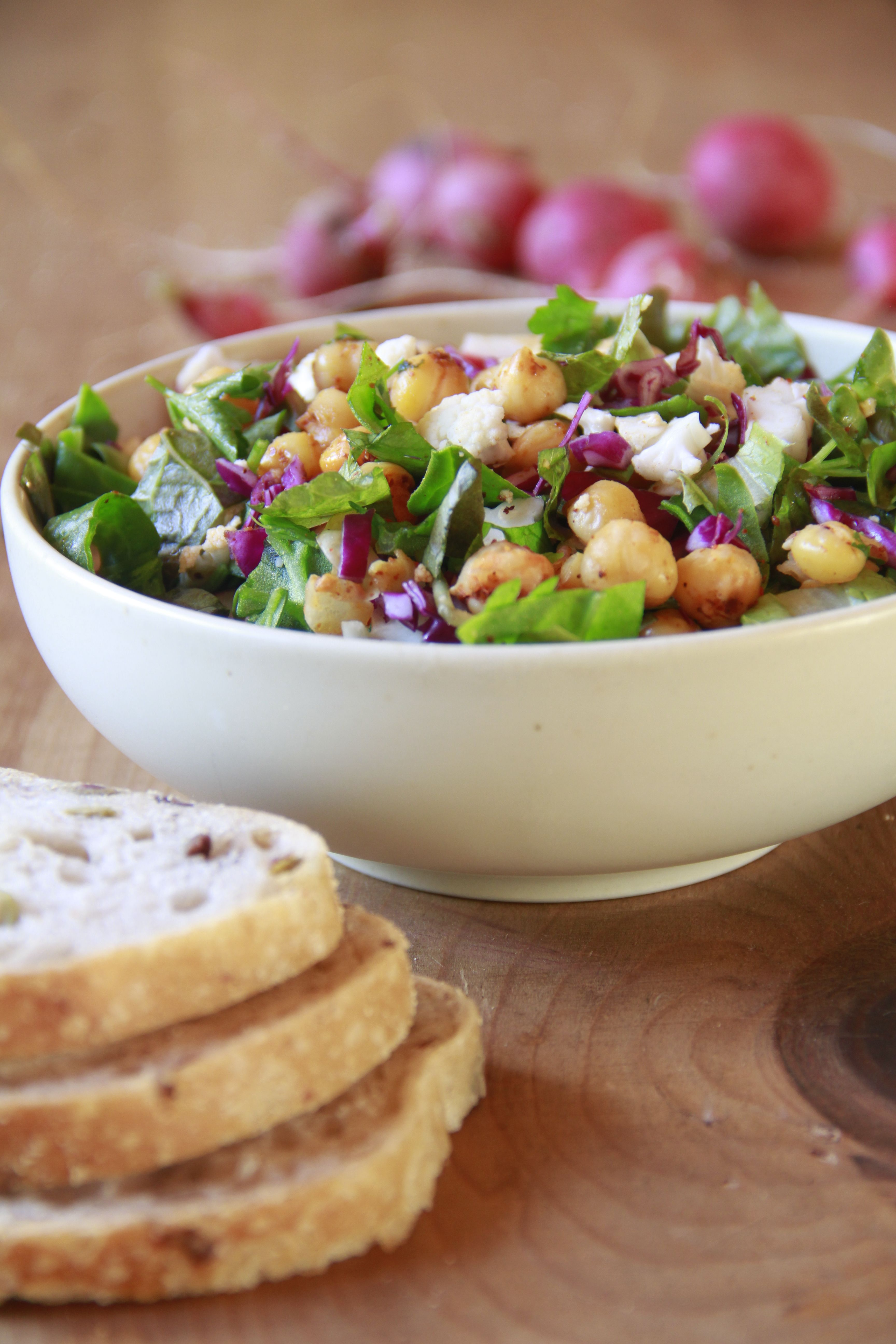 Garbanzo Beans And Cauliflower Salad Vegan Food Vegan