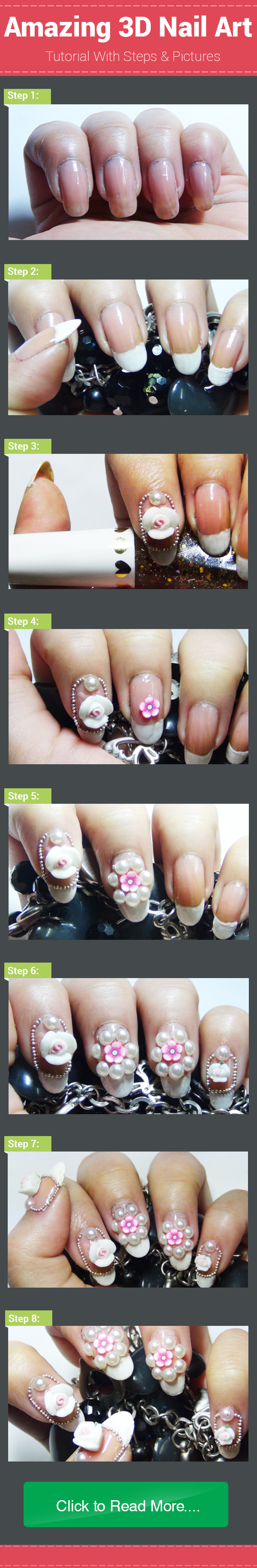Top 30 3D Nail Art Designs - Step By Step Tutorials And Pictures ...