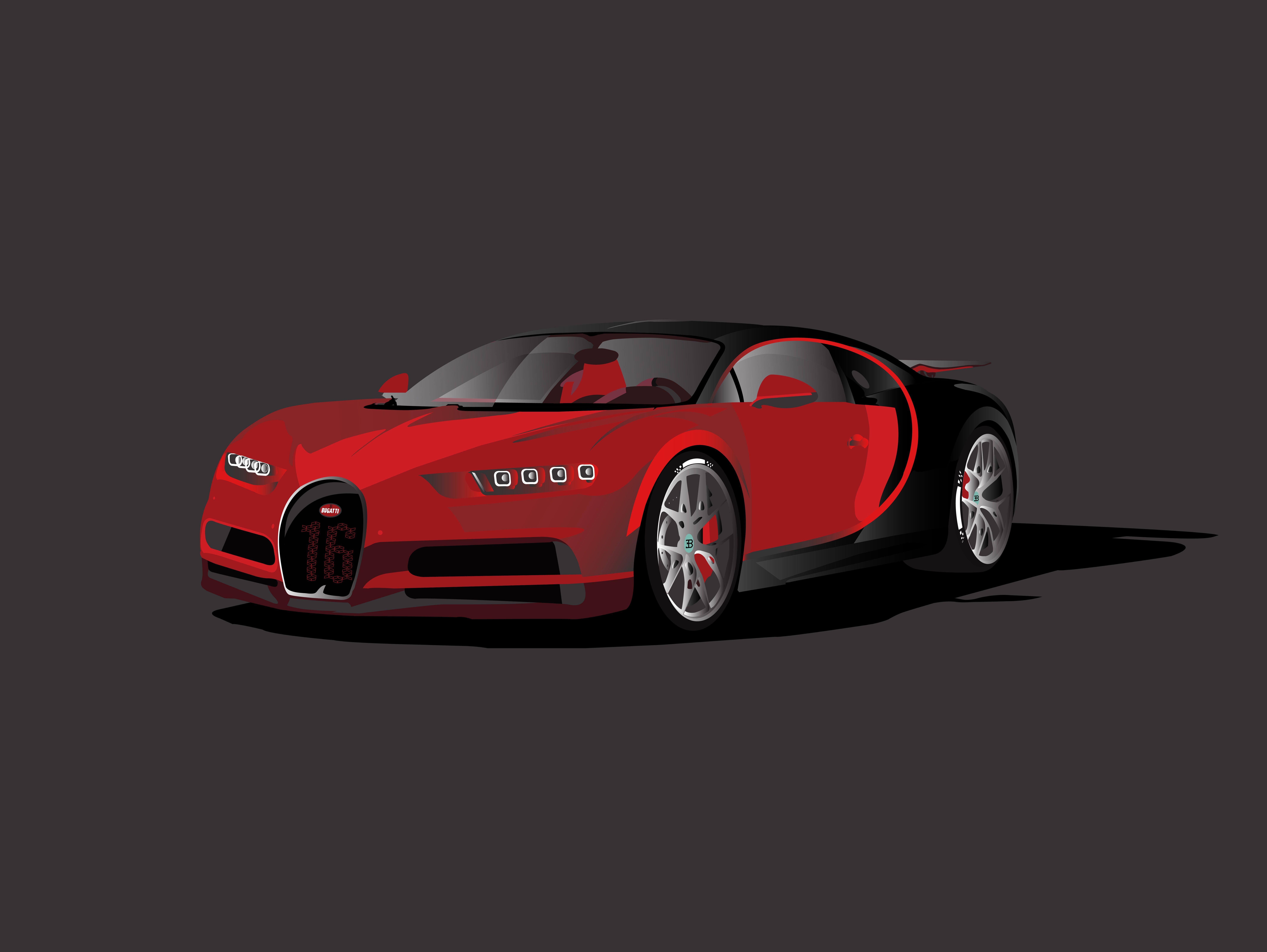 Bugatti chiron sport illustration web design training