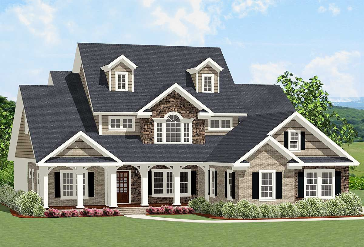 Plan 46262la Traditional House Plan With Dynamite Curb Appeal In 2019 Top 10 Traditional House Plans House Plans Facade House