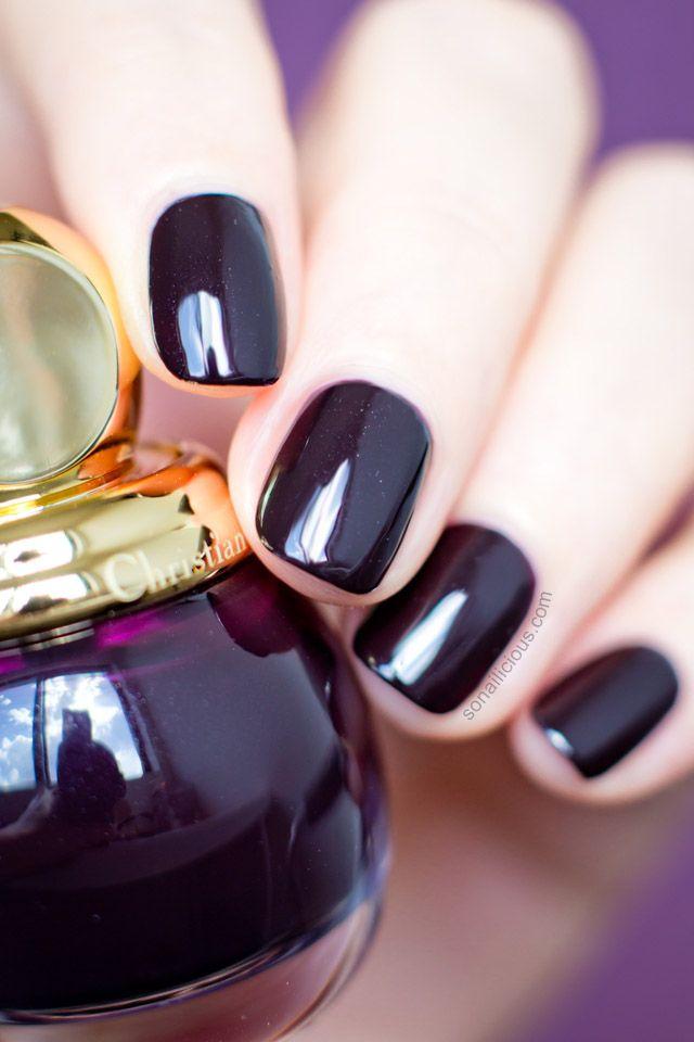 Must Have Diorific Smoky The Chicest Dark Plum Polish Dior Nails Plum Nails Dior Nail Polish