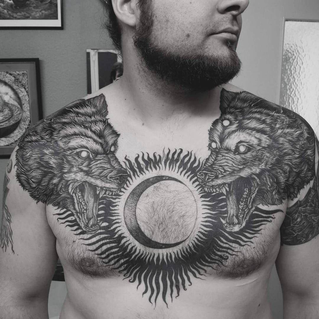Hati And Skll By Perichaud Pierre Businessforsatan Electronic Circuit Board Full Sleeve Blackwork Male Tattoo Hatiandskoll