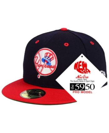 c21c8827982 New Era New York Yankees Retro Stock 59FIFTY Fitted Cap - Navy Red 7 ...