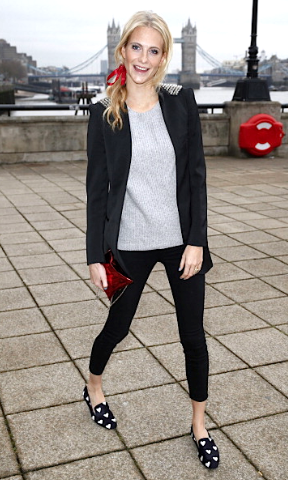 Poppy Delevingne at Anya Hindmarch A/W 2014 in London