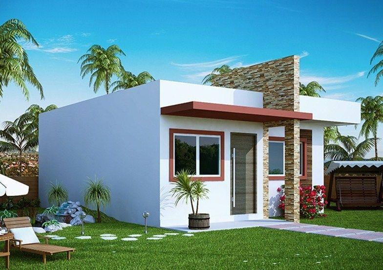 Fachadas de casas de un piso chiquitas en 2019 frentes for Casa moderna 8