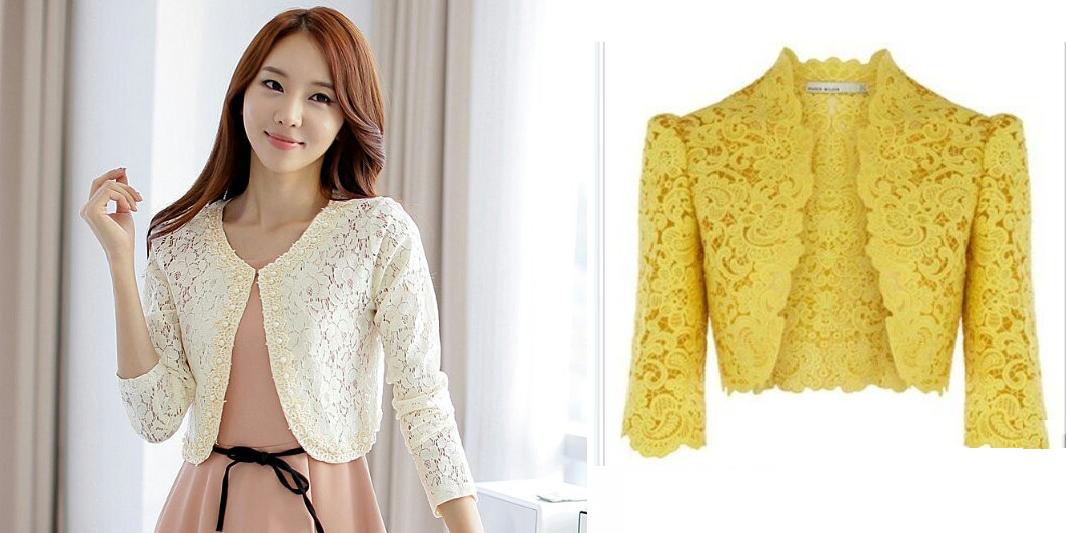 modelos-de-chaqueta-corta-de-encaje | ropa | Pinterest | Costura ...
