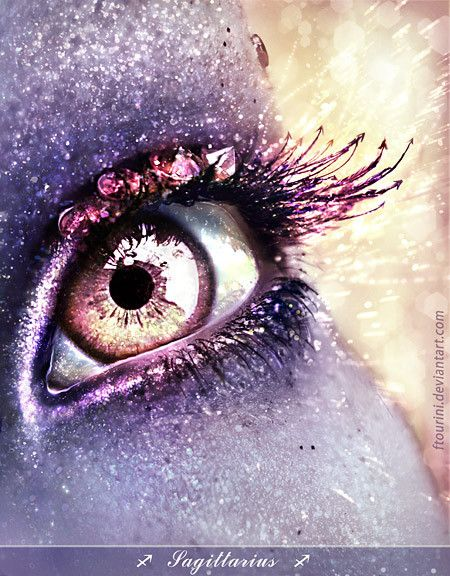 Purple Eye. Fantasy Make-Up. Photography.