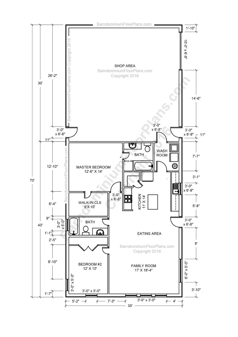 Barndominium Floor Plans, Pole Barn House Plans and Metal Barn Homes | Barndominium Designs #barndominiumideasfloorplans