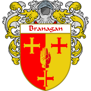 Branagan Coat of Arms   namegameshop.com has a wide variety of products with your surname with your coat of arms/family crest, flags and national symbols from England, Ireland, Scotland and Wale