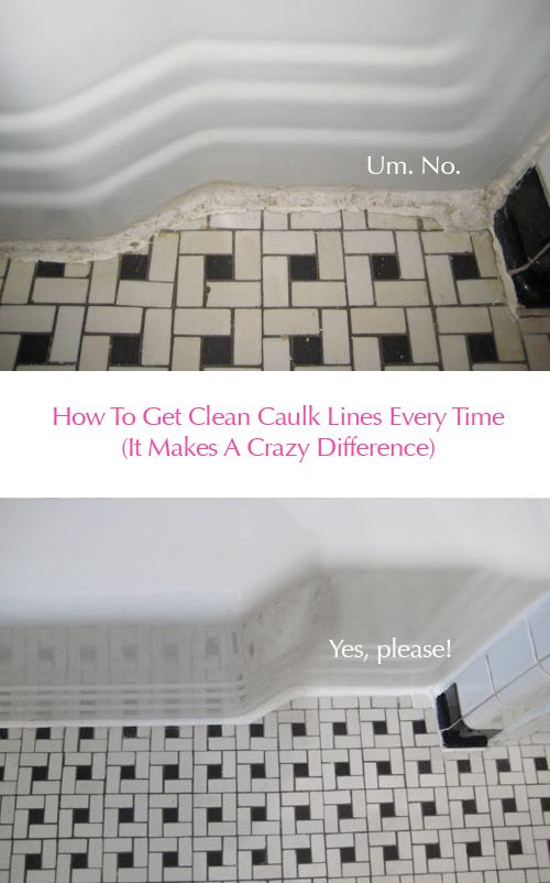 Clean Vintage Bathroom Tiles Caulk More Cleanly With Painters - Bathroom caulking service