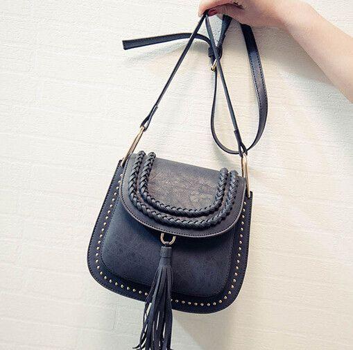 2016 new Bags handbag women famous brands ladies bags fringed tassel Crossbody bags Saddle designer weave Messenger Bags