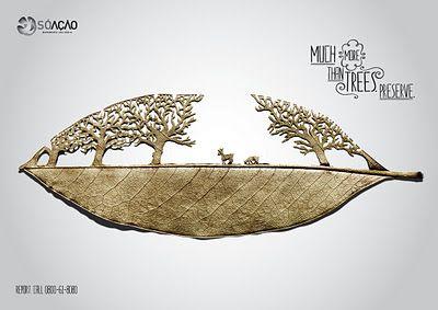 Bonita campaña gráfica para concienciar sobre la importancia de los bosques