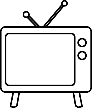 black and white television objects nesneler pinterest rh pinterest com regarder la télévision clipart television clipart panda