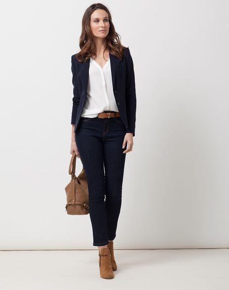 veste bleue marine femme collection été