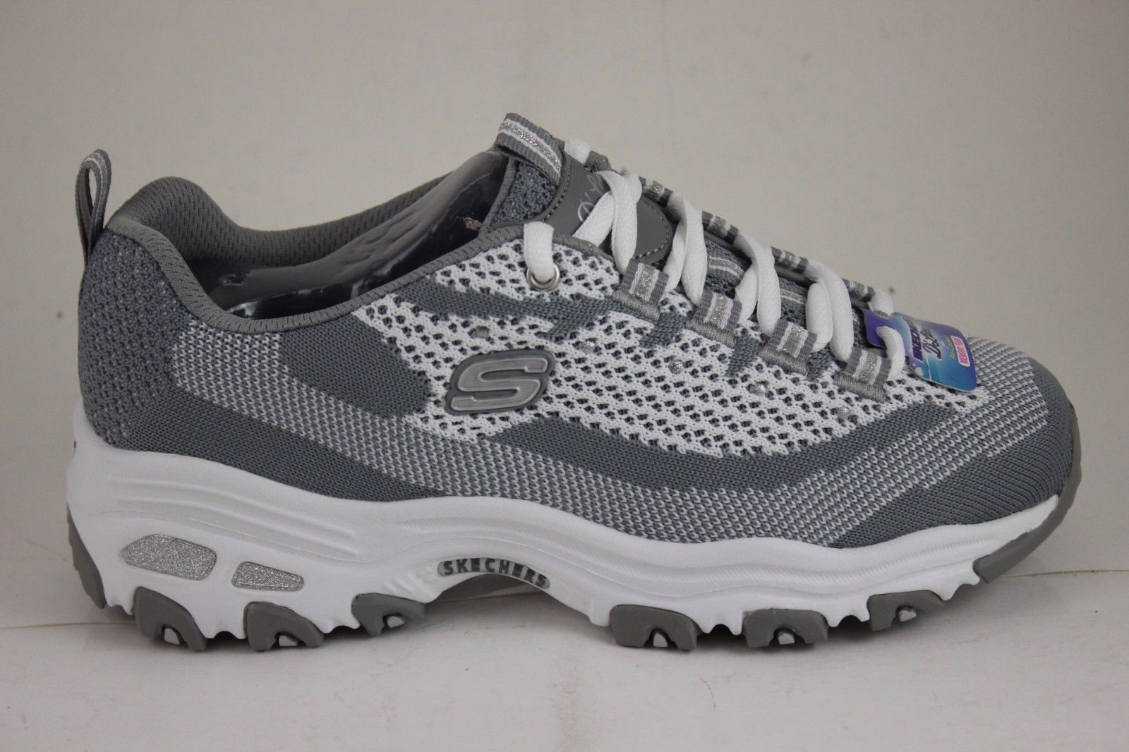 66ae2387a3ee Skechers D Lites Reinvention Gray White 11955 Gyw Air Cooled Memory Foam