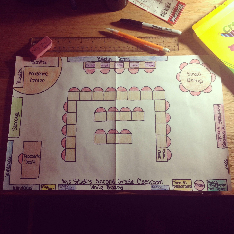 Second grade classroom floor plan