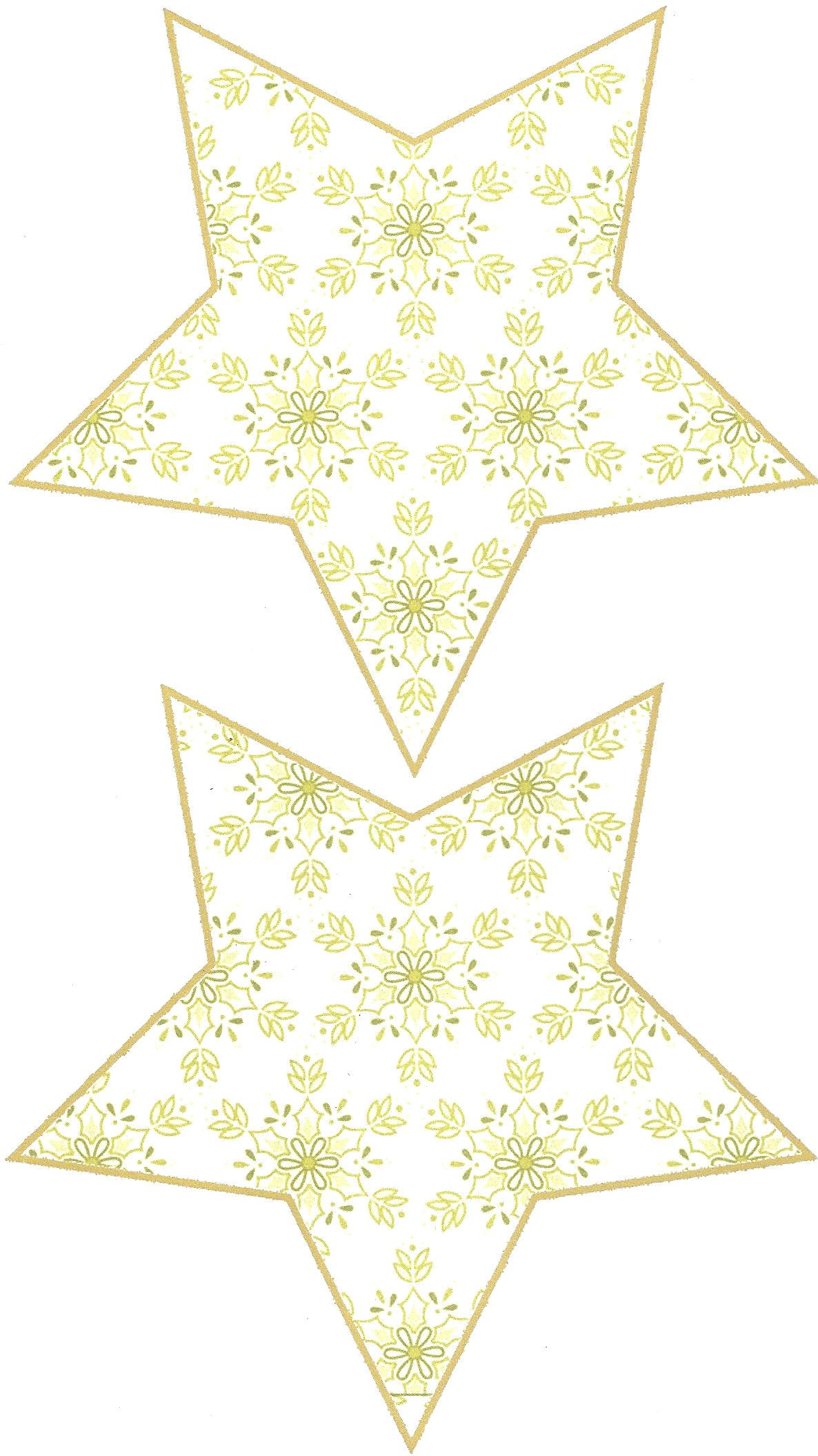 Free Printable Patterns For Making A 3d Shabby Chic 5 Point Christmas Star Ornament From Your Own Printer U Paper Ornaments Printable Patterns Christmas Star