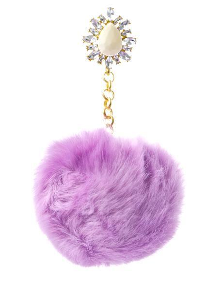 Purrfect Purple Pom-Pom Earrings
