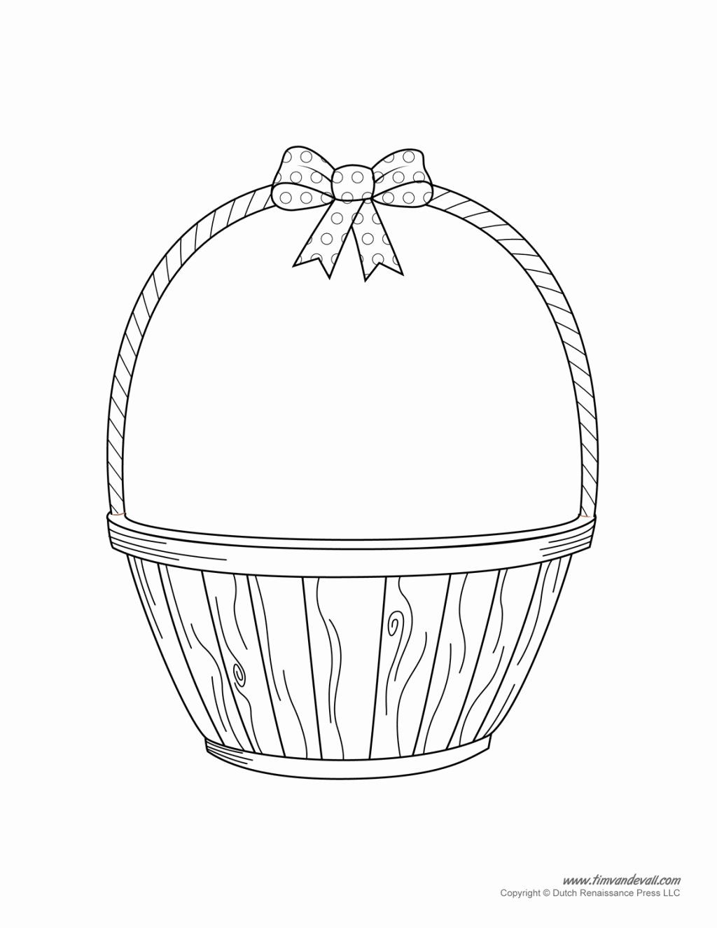 Empty Easter Basket Coloring Page In 2020 Easter Basket Printable