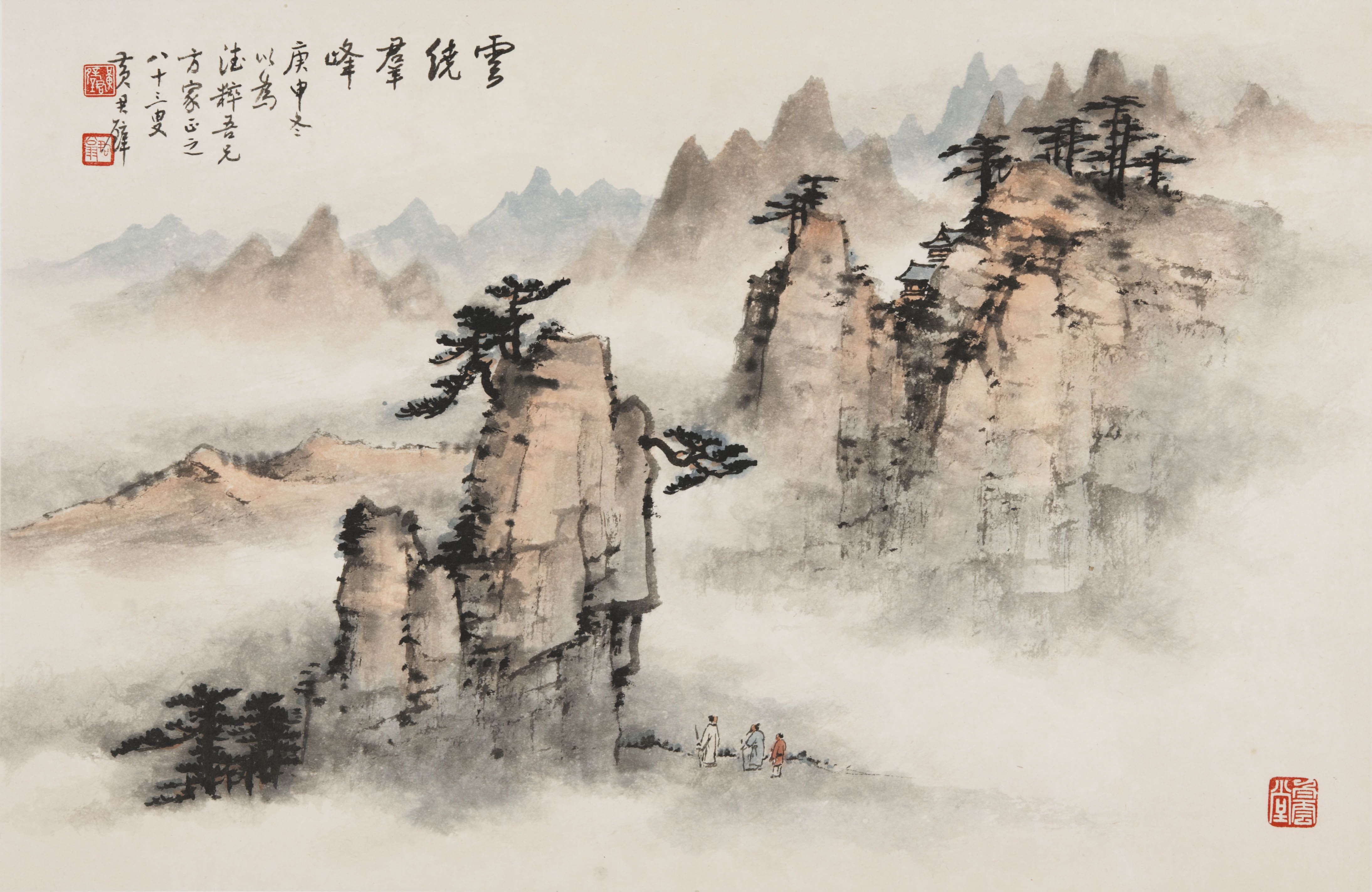 Mountains and waters landscape paintings from china for Chinese mural art