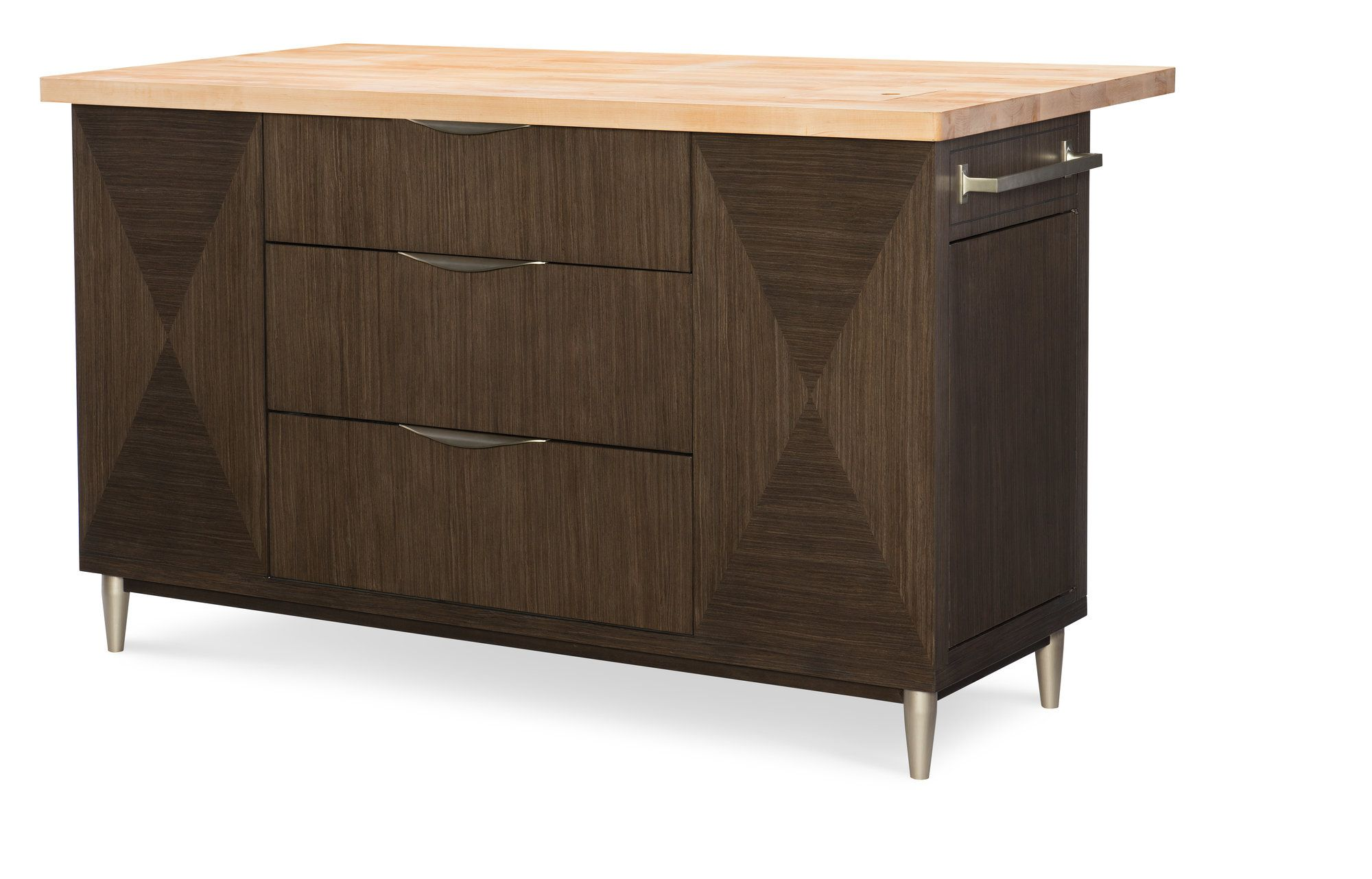 Soho by rachael ray home kitchen island with butcher block soho