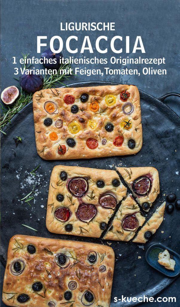 Sommerliche Focaccia Variationen mit Tomaten, Feigen, Oliven