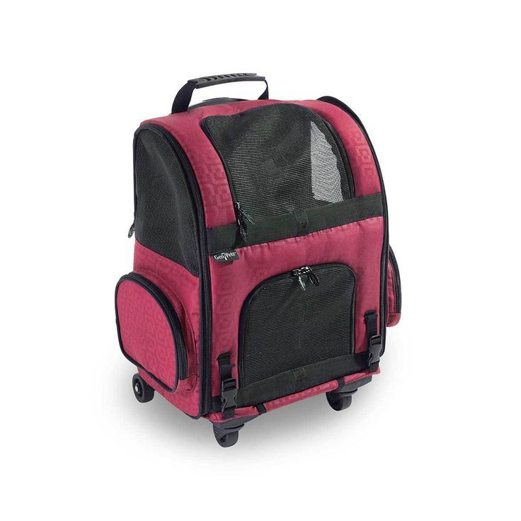 cdd4e84f8d Dog Carrier Roller-Red Geometric up to 20 lbs