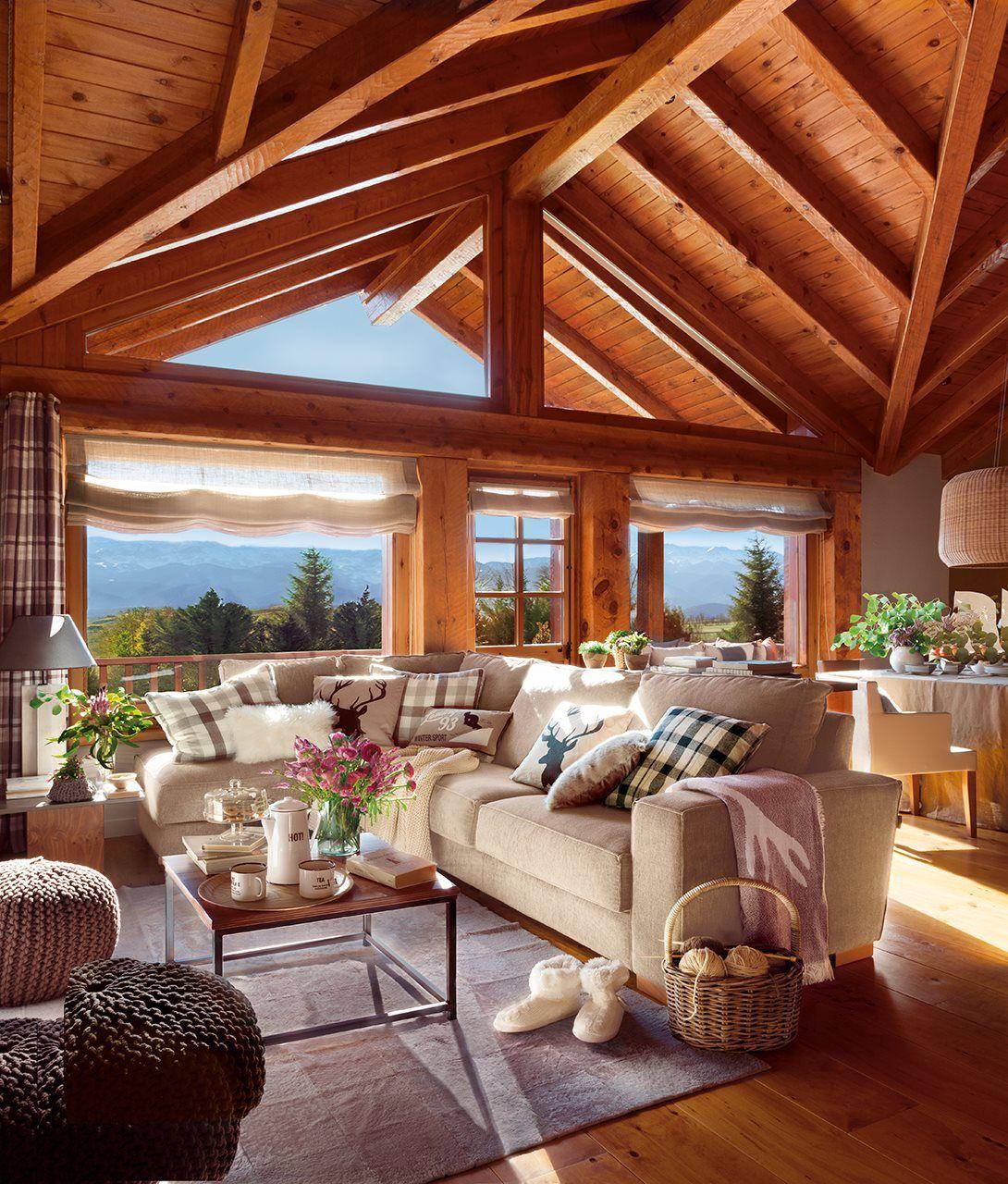 Una caba a de madera reformada casas for Decoracion piso montana