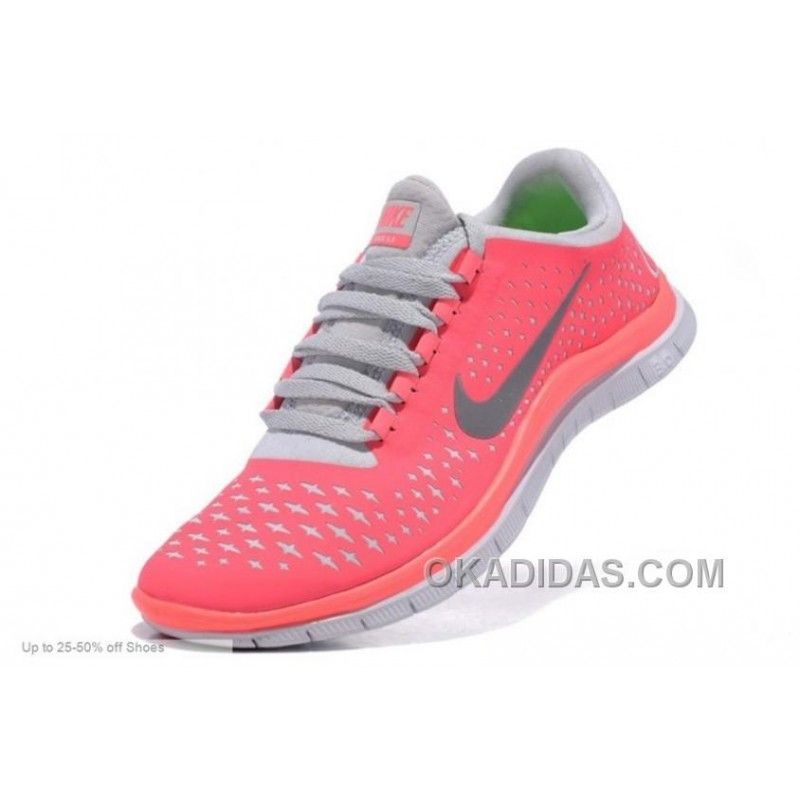 outlet store 5319c c7f03 Nike Running Shoes Women Free Run 3.0 V4 Pink Grey Christmas Deals