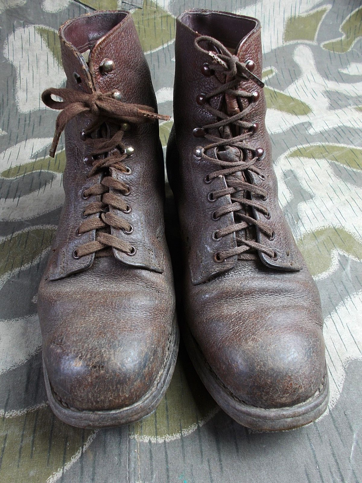 2fb0b5afa89 WW2 VTG GERMAN ARMY ELITE SOLDIERS LOW ANKLE BOOTS SHOES W ...