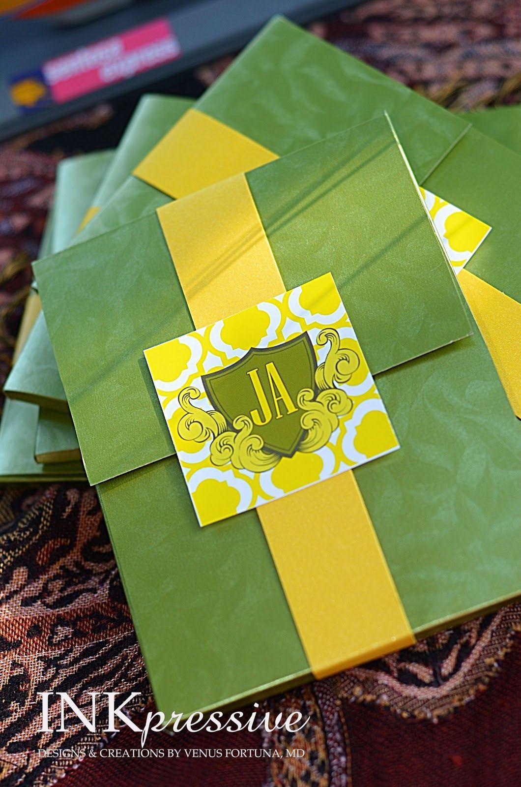 Inkpressive Invitations: Passport Wedding Invitation - Green and ...