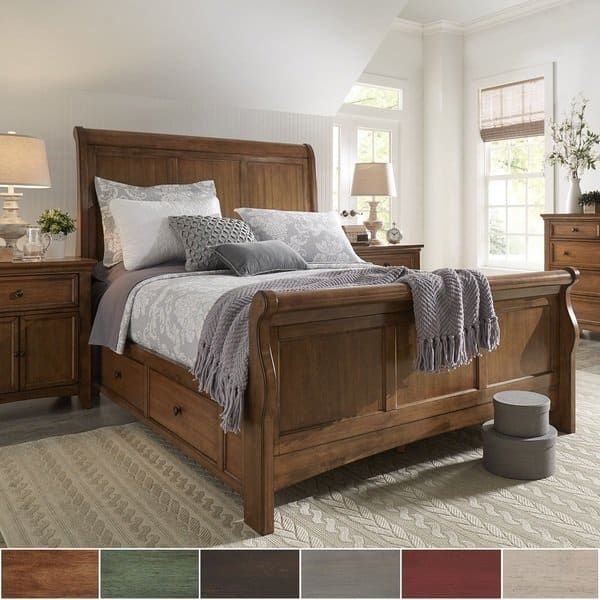 Greensburg Storage Sleigh Bedroom Set From Ashley B671: Copper Grove Lyon King-size Wood Sleigh Platform Storage