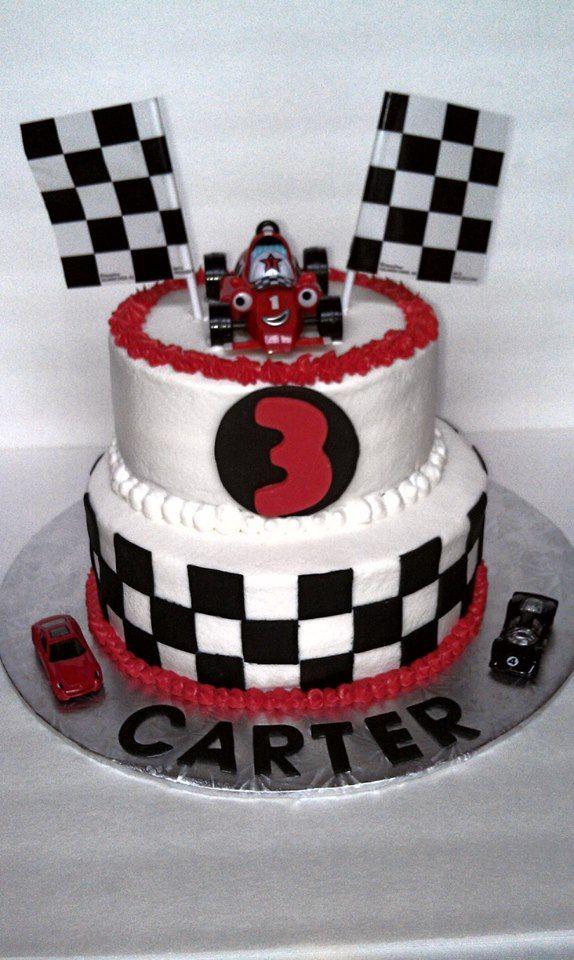 Race Car Cake Theme Will Go Great With Eli S Crash Helmet