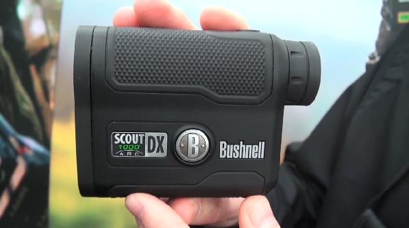 Black Bushnell Scout DX 1000 ARC 6 x 21mm Laser Rangefinder