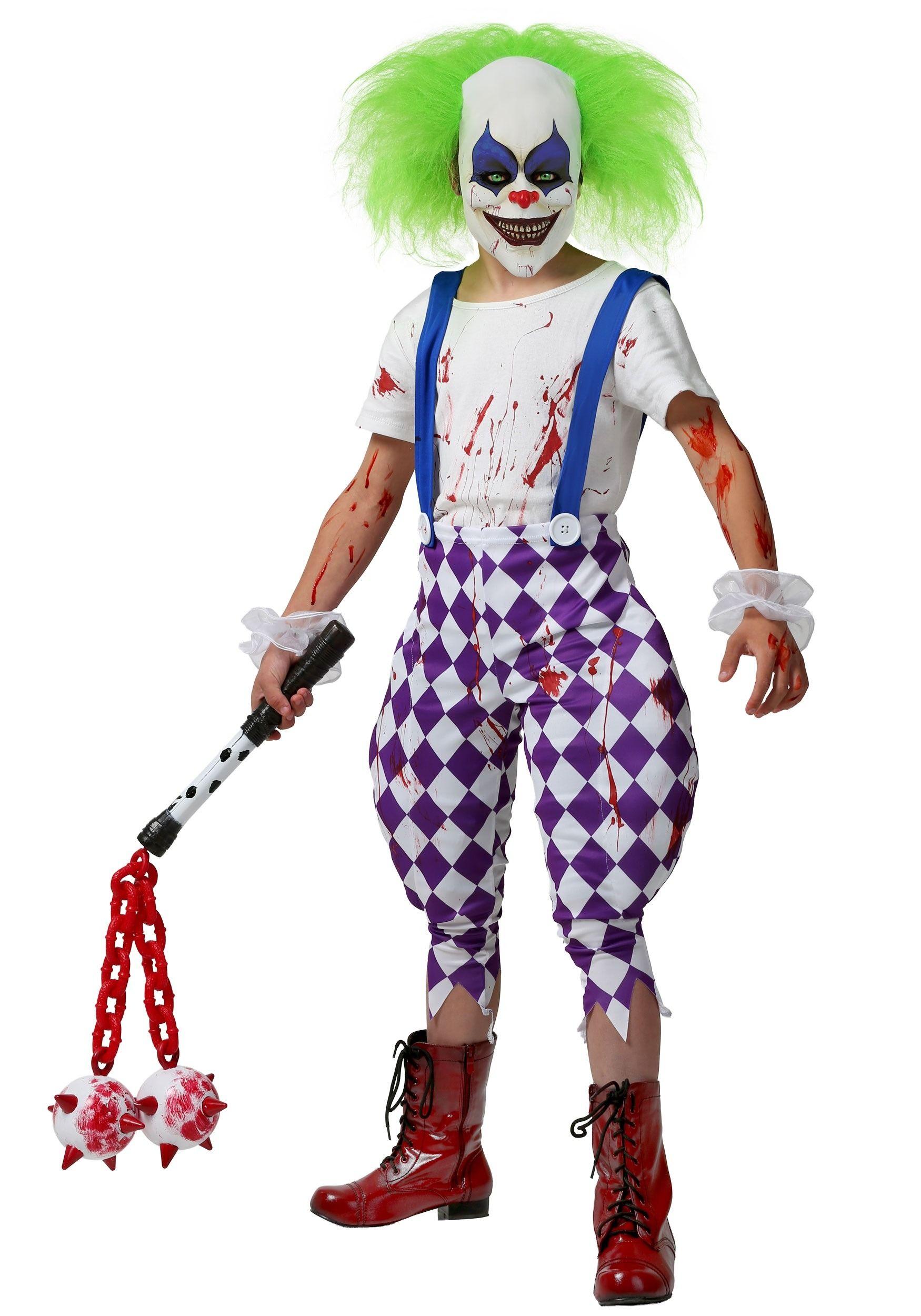 Nightmare Clown Costume For Kids Clown Costume Scary Halloween Costume Clown Halloween Costumes