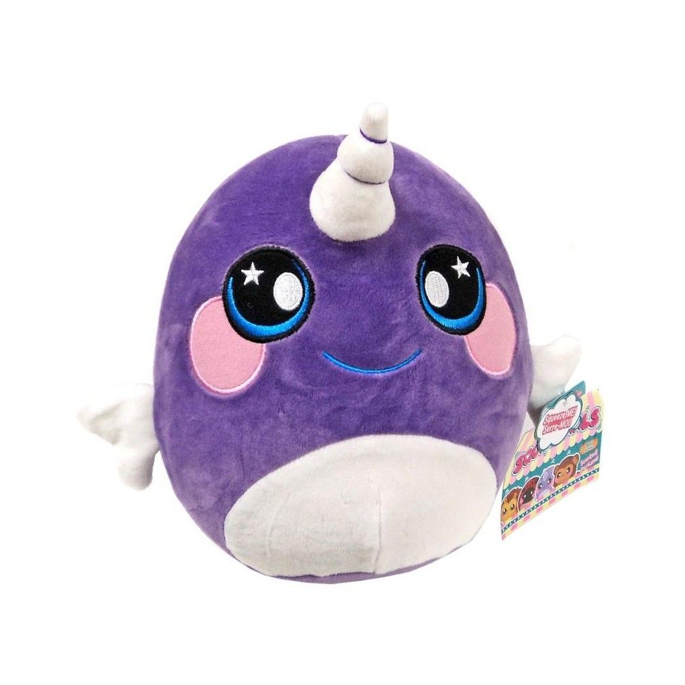 Squeezamals Wave 2 Neil Narwhal 8Inch Plush Figure
