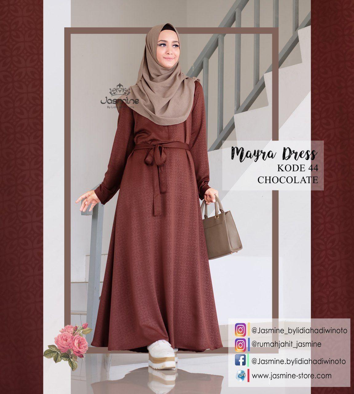 Gamis Jasmine Mayra Dress 44 - baju gamis wanita busana muslim Untukmu yg  cantik syari dan af13c2a65b