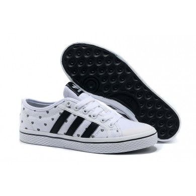 Adidas Originals Honey Stripes Heart Womens Shoes - White/Black