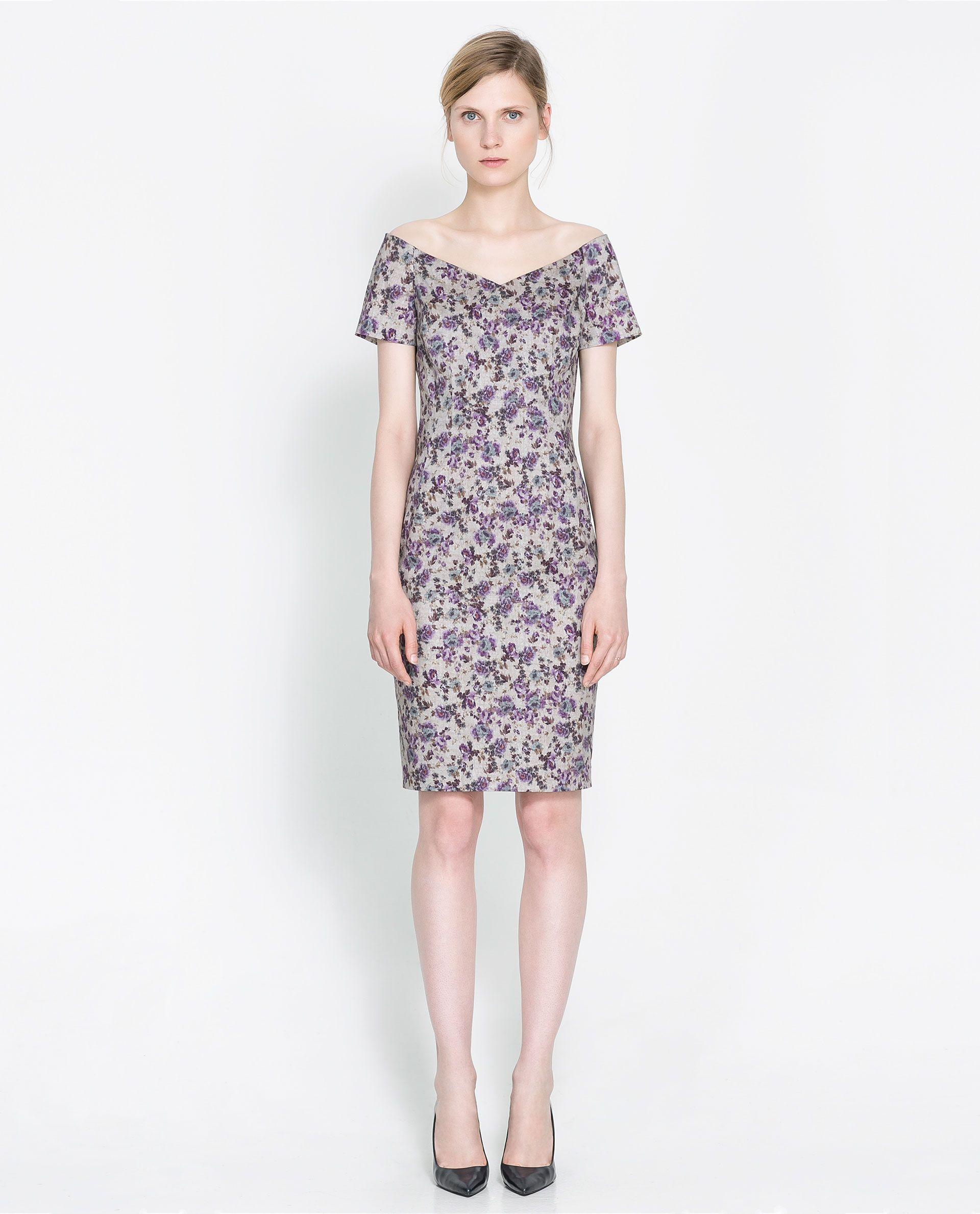 ZARA - WOMAN - BOAT NECK PRINTED DRESS 60usd