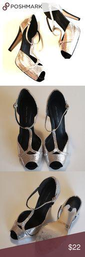Silver snakeskin like shoes Jelena style- not real snakeskin…